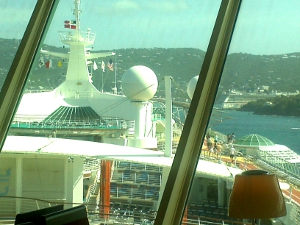 View from Viking Crown, approaching St. Thomas