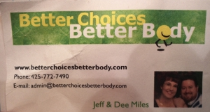 Blog of Jeff and Dee Miles, Better Choices, Better Body