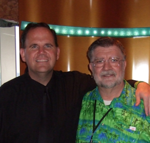 Jimmy Moore And me At Dinner Friday Night on the 5th Annual Low-Carb Cruise